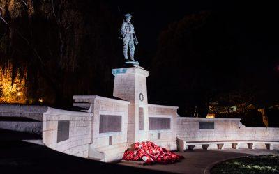 War memorial lights