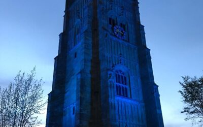 The Bell Tower turns blue to thank our NHS and #ClapForOurCarers
