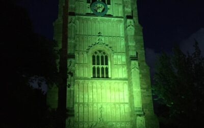 Evesham Bell Tower goes green to celebrate National Recycling Week!